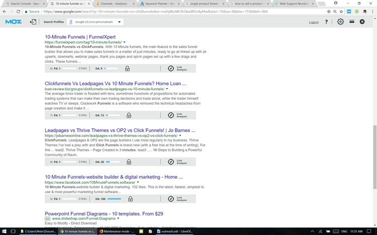 10 minute funnels Google