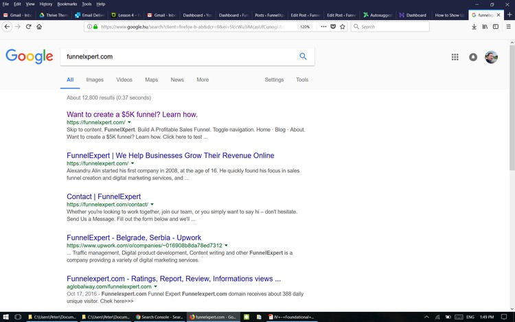 FunnelXpert indexed in Google