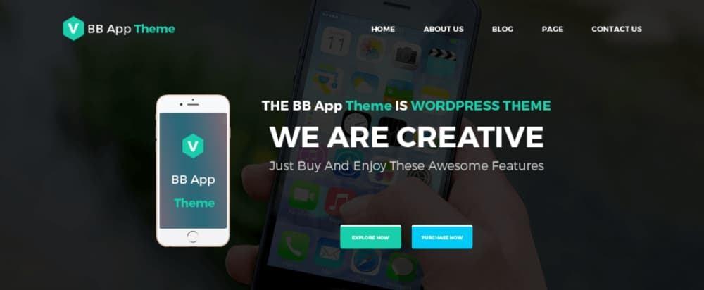 Free BB Mobile Application WordPress theme