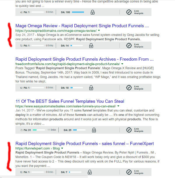 rapid deployment single product funnels search results