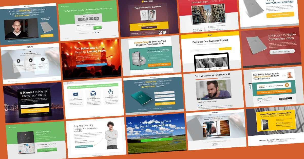 Thrive Landing page templates wordpress