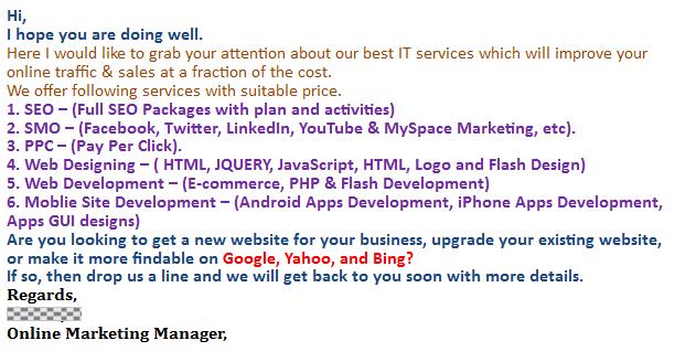 spam fonts colors