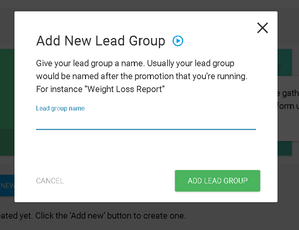 add new lead group