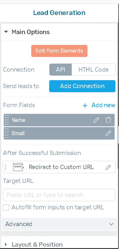set input fields