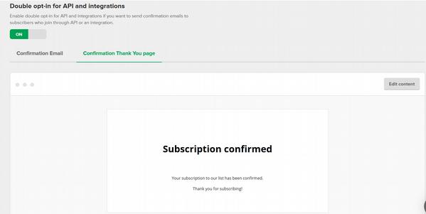 MailerLite05 confirmation tku page