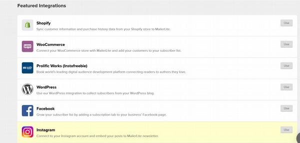 MailerLite07 integrations