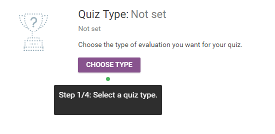 quiz type select