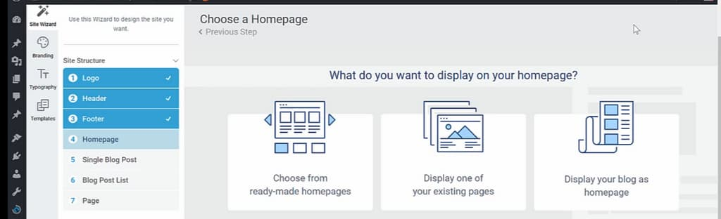 choose a home page
