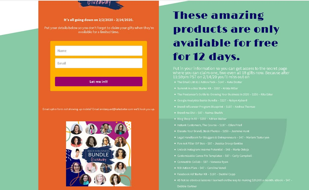 giveaway funnel opt in page4