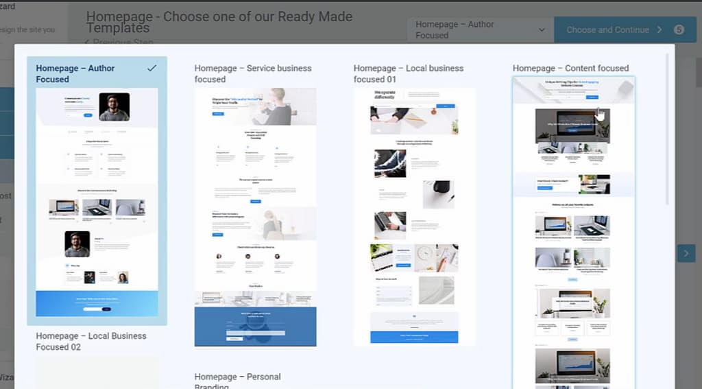 homepage templates