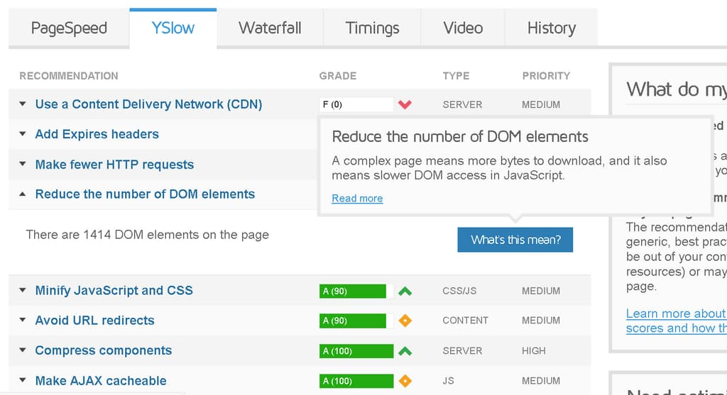 reduce number of dom elements