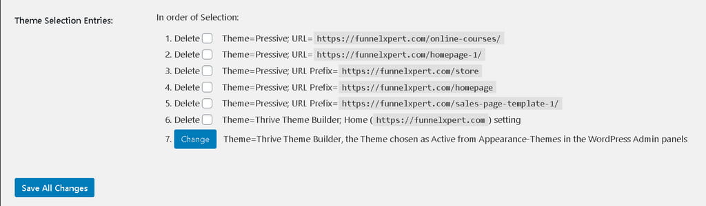 multiple themes selection