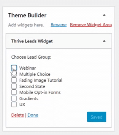 theme builder widget